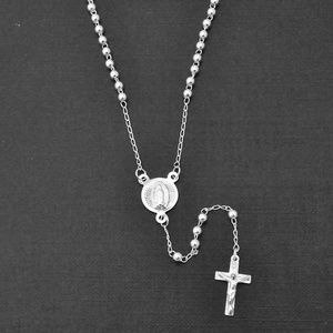 NWT Sterling Silver Polished Rosary Necklace